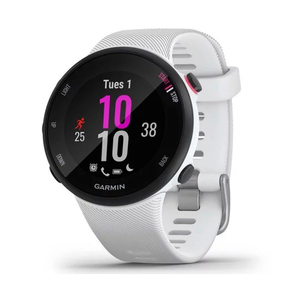 Garmin forerunner 45s 39mm blanco reloj inteligente de running con gps y monitor de frecuencia cardíaca