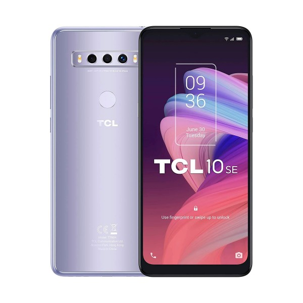 Tcl 10 se plata móvil 4g dual sim 6.52'' hd+ octacore 128gb 4gb ram tricam 48mp selfies 8mp