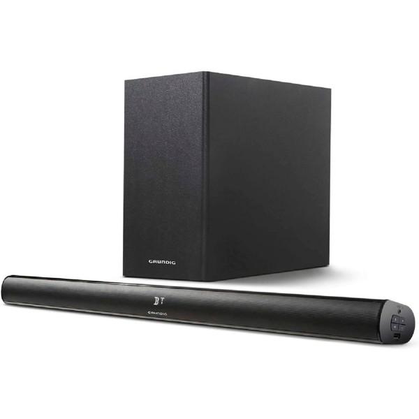 Grundig gsb 990 negra barra de sonido con subwoofer inalámbrico 80w 2.1 hdmi line-in usb